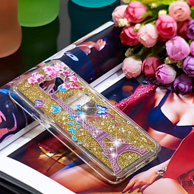 voordelige Galaxy A-serie hoesjes / covers-hoesje Voor Samsung Galaxy A3(2016) Schokbestendig / Glitterglans Achterkant Eiffeltoren / Glitterglans Zacht TPU