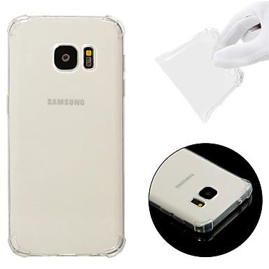 Недорогие Чехол Samsung-Кейс для Назначение SSamsung Galaxy S7 Защита от удара / Прозрачный Кейс на заднюю панель Однотонный Мягкий ТПУ