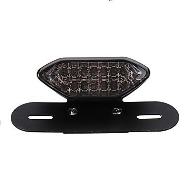 voordelige Motorverlichting-motorfiets atv kentekenplaat led staart achterrem beugel lichten beurt lamp 12v