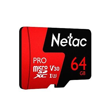 olcso SD-kártya-netac p500 pro micro sd kártya 64 GB-os osztály 10 uhs 1 u3 v30 memóriakártya 256 GB flash microsd tf kártya