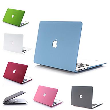 """olcso MacBook védőburkok, védőhuzatok, táskák-MacBook Tok / Kombinált védelem Egyszínű PVC mert MacBook Pro Retina / MacBook Air 13 hüvelyk / New MacBook Air 13"""" 2018"""