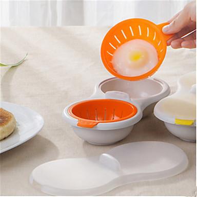 رخيصةأون أدوات خاصة-الميكروويف البيض الصياد تجهيزات المطابخ مزدوجة الكأس المزدوج كهف البيض طباخ البيض الصيد الجائع