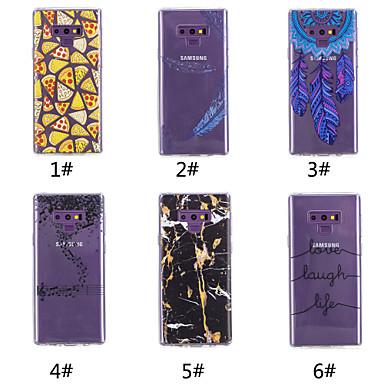 Недорогие Чехлы и кейсы для Galaxy Note-Кейс для Назначение SSamsung Galaxy Note 9 / Note 8 С узором Кейс на заднюю панель Продукты питания / Слова / выражения / Перья Мягкий ТПУ
