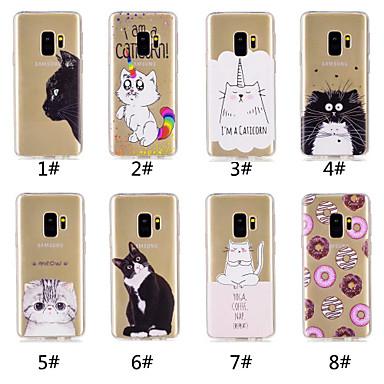 voordelige Galaxy S-serie hoesjes / covers-hoesje Voor Samsung Galaxy S9 / S9 Plus / S8 Plus Patroon Achterkant Kat / Voedsel / Cartoon Zacht TPU