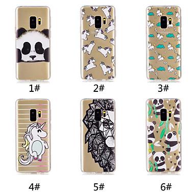 voordelige Galaxy S-serie hoesjes / covers-hoesje Voor Samsung Galaxy S9 / S9 Plus / S8 Plus Patroon Achterkant Eenhoorn / Cartoon / Panda Zacht TPU