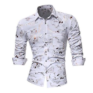 رخيصةأون قمصان رجالي-رجالي نادي ترف قميص, ورد ياقة مفرودة نحيل