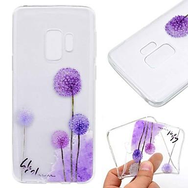 voordelige Galaxy S-serie hoesjes / covers-hoesje Voor Samsung Galaxy S9 / S9 Plus / S8 Plus Transparant / Patroon Achterkant Paardebloem Zacht TPU