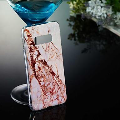Недорогие Чехлы и кейсы для Galaxy S3-Кейс для Назначение SSamsung Galaxy S9 / S9 Plus / S8 Plus С узором Кейс на заднюю панель Мрамор Мягкий ТПУ
