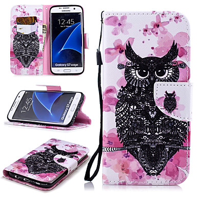 new style 3f849 607d7 [$5.99] Case For Samsung Galaxy S7 edge Wallet / Card Holder / Shockproof  Full Body Cases Owl Hard PU Leather for S7 edge