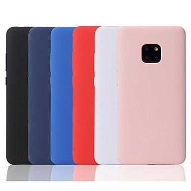 رخيصةأون Huawei أغطية / كفرات-غطاء من أجل Huawei Huawei P20 / Huawei P20 Pro / Huawei P20 lite مثلج غطاء خلفي لون سادة ناعم سيليكون
