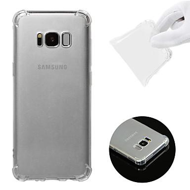 voordelige Galaxy S-serie hoesjes / covers-hoesje Voor Samsung Galaxy S8 Schokbestendig / Transparant Achterkant Effen Zacht TPU