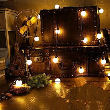 رخيصةأون تزيين المنزل-عطلة زينة رأس السنة أضواء الكريسمس ضوء LED أبيض دافئ 1PC