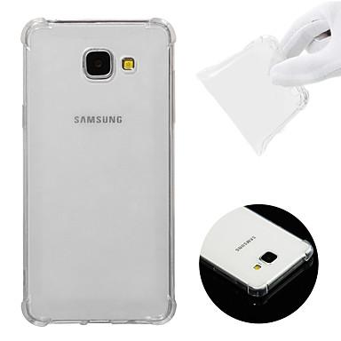 Недорогие Чехол Samsung-Кейс для Назначение SSamsung Galaxy A5(2016) Защита от удара / Прозрачный Кейс на заднюю панель Однотонный Мягкий ТПУ