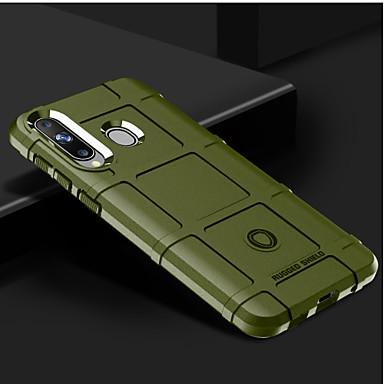 Недорогие Чехлы и кейсы для Galaxy А-Кейс для Назначение SSamsung Galaxy Galaxy A7(2018) / Galaxy A9 (2018) Защита от удара Кейс на заднюю панель Однотонный Мягкий Силикон