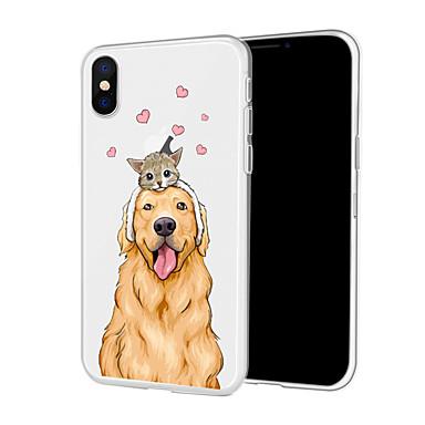 voordelige iPhone 6 Plus hoesjes-hoesje Voor Apple iPhone XS / iPhone XR / iPhone XS Max Patroon Achterkant Hond Zacht TPU
