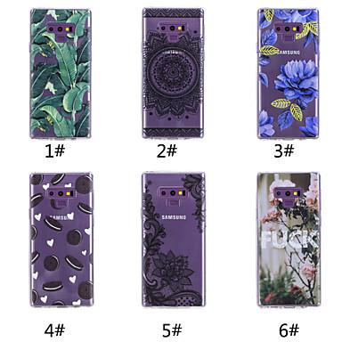 voordelige Galaxy Note-serie hoesjes / covers-hoesje Voor Samsung Galaxy Note 9 / Note 8 Patroon Achterkant Voedsel / Woord / tekst / Boom Zacht TPU