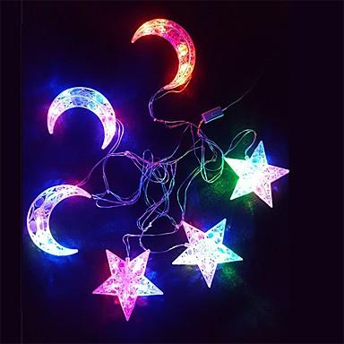 رخيصةأون تزيين المنزل-النجوم سلسلة ضوء القمر الملونة 30 مصباح حامل 6 معلقة