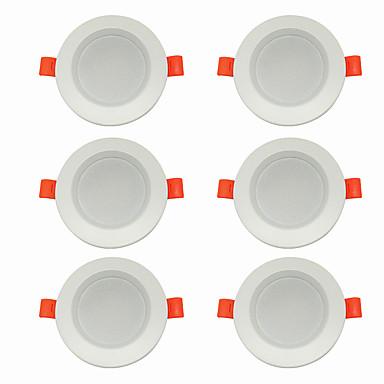 6PCS 5 W 360 lm 10 الخرز LED سهولة التثبيت في فجوة أضواء LED أبيض دافئ أبيض كول 220-240 V سقف المنزل / مكتب غرفة الجلوس / الضيوف / CE