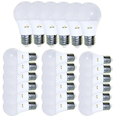 EXUP® عدد 24 قطعة 5 W مصابيح كروية LED 450 lm E26 / E27 15 الخرز LED SMD 2835 إبداعي بديع كوول أبيض دافئ 85-265 V