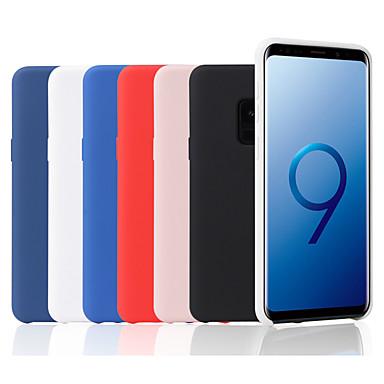 رخيصةأون حافظات / جرابات هواتف جالكسي S-غطاء من أجل Samsung Galaxy S9 / S9 Plus / S8 Plus مثلج غطاء خلفي لون سادة ناعم سيليكون