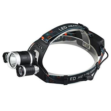 Frontale Rezistent la apă Reîncărcabil 2400 lm LED LED 3 emițători 4.0 Mod Zbor cu Încărcător Rezistent la apă Reîncărcabil Rezistent la Impact Camping / Cățărare / Speologie Utilizare Zilnică Ciclism