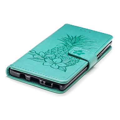 Недорогие Чехлы и кейсы для Galaxy Note-Кейс для Назначение SSamsung Galaxy Note 9 Кошелек / Бумажник для карт / со стендом Чехол Фрукты / Цветы Твердый Кожа PU