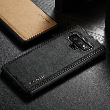 Недорогие Чехлы и кейсы для Galaxy S-WHATIF Кейс для Назначение SSamsung Galaxy S8 / Note 9 Защита от удара / Своими руками Кейс на заднюю панель Однотонный Твердый Кожа PU для S9 / S9 Plus / S8 Plus