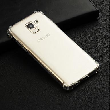 voordelige Galaxy J-serie hoesjes / covers-hoesje Voor Samsung Galaxy J7 (2017) / J7 (2016) / J7 Schokbestendig / Transparant Achterkant Effen Zacht TPU