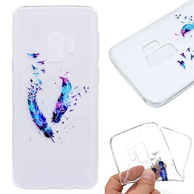 voordelige Galaxy S6 Edge Hoesjes / covers-hoesje Voor Samsung Galaxy S9 / S9 Plus / S8 Plus Transparant / Patroon Achterkant Veren Zacht TPU