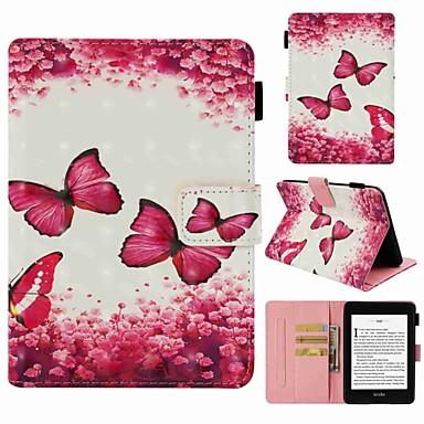 غطاء من أجل Amazon Kindle PaperWhite 4 حامل البطاقات / ضد الصدمات / نموذج غطاء كامل للجسم فراشة قاسي جلد PU
