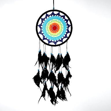 حلم الماسك اليدوية مع ريشة بوهيميا الهند نمط الجدار الديكور