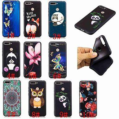 hoesje Voor Huawei Huawei Nova 3i / Huawei Honor 9 Lite / Honor 7X Patroon Achterkant Vlinder / Uil / Panda Zacht TPU