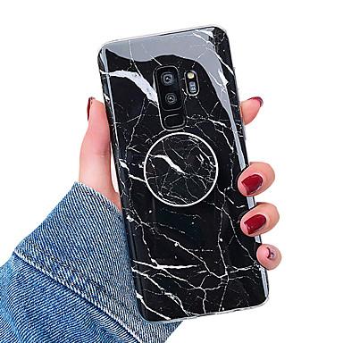 olcso Samsung tokok-Case Kompatibilitás Samsung Galaxy S9 / S9 Plus / S8 Plus Állvánnyal / IMD Fekete tok Márvány Puha TPU