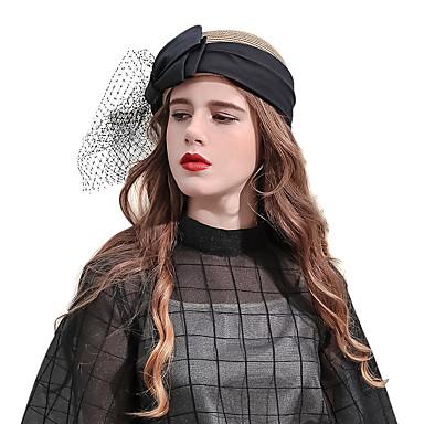 Elizabeta Čudesna gđa. Maisel Žene Odrasli dame Retro / vintage Veil Klobučevine Fascinator Hat šešir Kava Mašna Til Šeširi Lolita Pribor