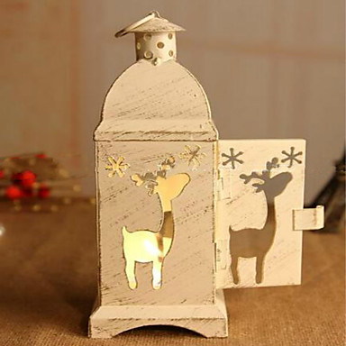 الرياح رومانسية مصباح الحديد الديكور موس عيد الحب الإبداعية شمعدان عيد الميلاد