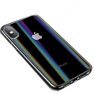 Недорогие Кейсы для iPhone 6 Plus-Кейс для Назначение Apple iPhone XS / iPhone XR / iPhone XS Max С узором Чехол Однотонный Твердый Закаленное стекло