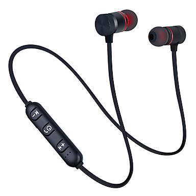 ieftine Aurii cu fir cu fir-Căști bluetooth 5.0 cu bandă sport cu căști magnetice wireless căști stereo căști muzică din metal cu microfon pentru toate telefoanele