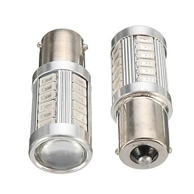 cheap Car Lights-Pair Amber 1056 PY21W BAU15S Car LED Brake Turn Signal Light