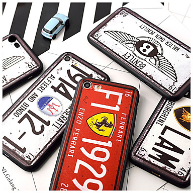 voordelige iPhone 5 hoesjes-hoesje Voor Apple iPhone XS / iPhone XR / iPhone XS Max Patroon Achterkant Tegel / Punk Hard Acryl
