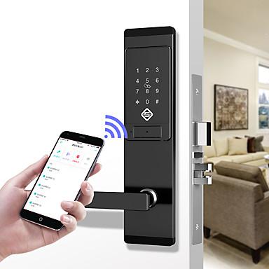 olcso Beléptető rendszerek-pineworld q201 intelligens ajtózár / cink ötvözet zár / jelszó zár / ujjlenyomat zár okos otthoni biztonsági ios / android rendszer jelszavát feloldó / mechanikus kulcs feloldása / anti peeping jelszó