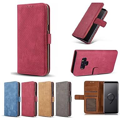 voordelige Galaxy Note 5 Hoesjes / covers-hoesje Voor Samsung Galaxy Note 9 / Note 8 / Note 5 Portemonnee / Kaarthouder / Schokbestendig Volledig hoesje Effen Hard PU-nahka