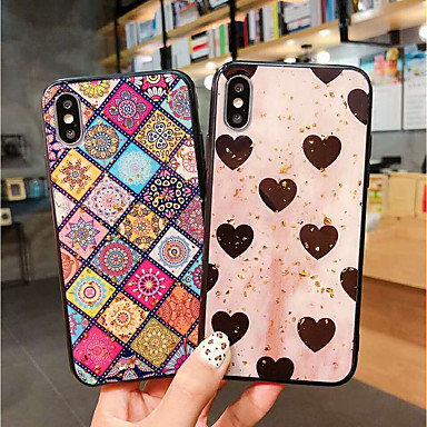 83734eafac9d7 [$4.99] Case For Apple iPhone XS / iPhone XS Max Shockproof / Dustproof /  Pattern Back Cover Heart / Geometric Pattern Soft TPU for iPhone XS /  iPhone ...