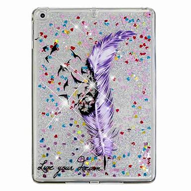 رخيصةأون أغطية أيباد-غطاء من أجل Apple iPad Air / iPad (2018) / iPad Air 2 ضد الصدمات / سائل متدفق / نموذج غطاء خلفي الريش / بريق لماع قاسي الكمبيوتر الشخصي / iPad (2017)