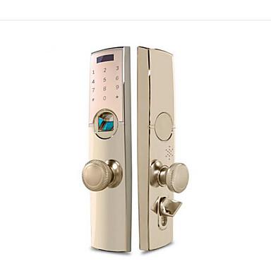 olcso Beléptető rendszerek-holishi® cink ötvözet zár / intelligens zár intelligens otthoni biztonsági rendszer rfid / ujjlenyomat feloldása / jelszó feloldása lakás / iroda / villa biztonsági ajtó / réz ajtó / fa ajtó