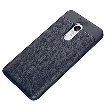 Недорогие Чехлы и кейсы для Xiaomi-Кейс для Назначение Xiaomi Xiaomi Redmi Note 4X / Xiaomi Redmi Note 4 Защита от удара Кейс на заднюю панель Однотонный Мягкий Углеродное волокно / силикагель