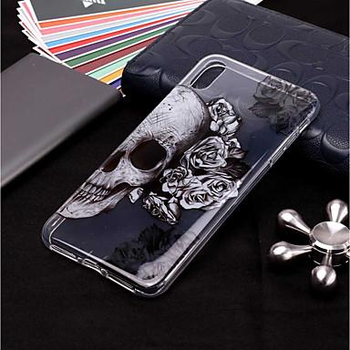 ราคาถูก เคสสำหรับ iPhone-Case สำหรับ Apple iPhone XS / iPhone XR / iPhone XS Max Transparent / Pattern ปกหลัง กระโหลก Soft TPU