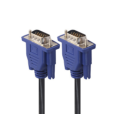 Недорогие VGA-5 м монитор компьютера VGA удлинитель VGA-кабель HD 15-контактный мужской VGA шнур медная линия для ноутбука проектор