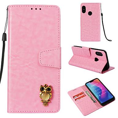 رخيصةأون Xiaomi أغطية / كفرات-غطاء من أجل Xiaomi Xiaomi A2 lite محفظة / حامل البطاقات / قلب غطاء كامل للجسم خطوط / أمواج قاسي جلد PU