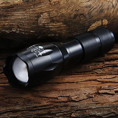 UltraFire LED Flashlights Lanterne LED 1600 lm LED LED 7 emițători 5 Mod Zbor Cu Baterie și Încărcător Zoomable Focalizare Ajustabilă Camping / Cățărare / Speologie Utilizare Zilnică Ciclism Negru