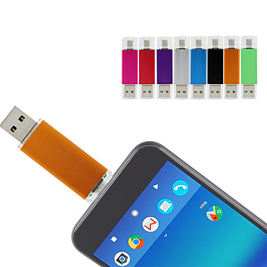 baratos Pen Drives USB-formigas 64 gb usb flash drive usb disco usb 2.0 128g micro usb metal shell irregular cobre